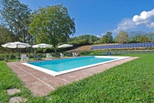 Der Swimmingpool im Garten