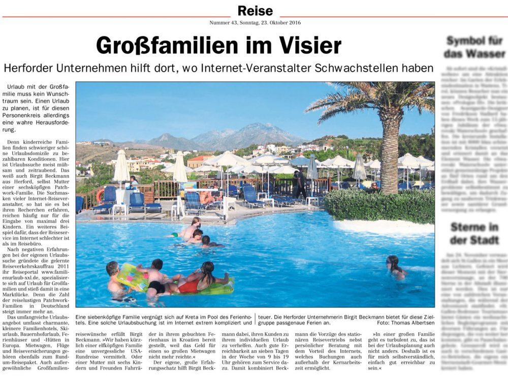Presse Großfamilien Urlaub