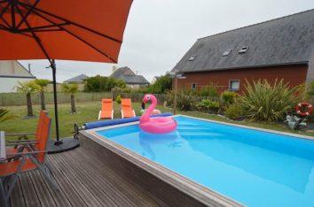 Ferienhaus mit privatem Pool in der Bretagne