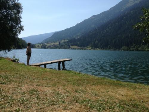 An manchen Stellen des Feldsees in Kärnten sind Sie ganz für sich allein