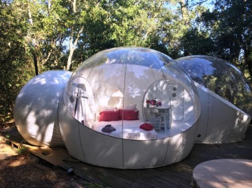 Schlafen in einem Bubble