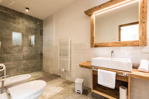 Unser Bauernhof in Südtirol verfügt über hochmoderne Badezimmer
