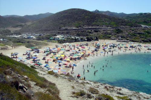 Die Insel Sardinien mit ihren weissen Sandstränden