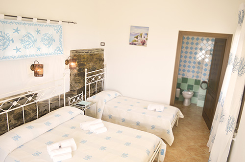 Die Schlafzimmer unseres Bauernhofs auf der Insel Sardinien