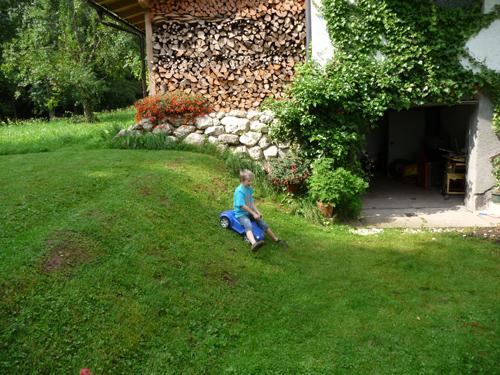 Garten zum Toben und Spielen