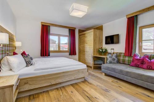 Gemütliche Schlafzimmer mit Sofabett zum Ausziehen